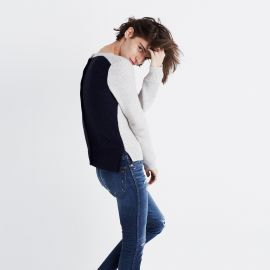 Backroad Button-back Sweater in Colorblock at Madewell