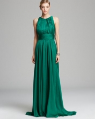 Badgley Mischka Gown - Sleeveless Draped Satin at Bloomingdales