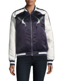 Bagatelle - Embroidered Long-Sleeve Bomber Jacket at Saks Off 5th