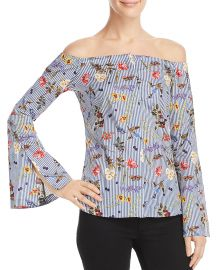 Bailey 44 Horticulture Floral Striped Top at Bloomingdales