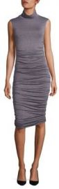 Bailey 44 - Ludlow Ruched Turtleneck Dress in Mercury at Saks Fifth Avenue