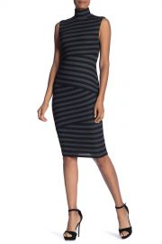 Bailey 44   Stripe Midi Turtleneck Dress    Nordstrom Rack at Nordstrom Rack