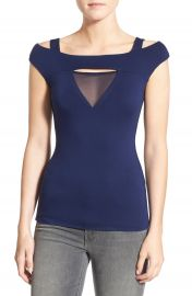 Bailey 44  Contour  Mesh Cutout Cold Shoulder Top at Nordstrom