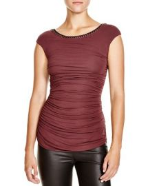 Bailey 44 Avenue Chain-Trimmed Ruched Top at Bloomingdales