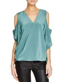 Bailey 44 Azalea Silk Cold Shoulder Top at Bloomingdales