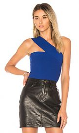 Bailey 44 Ceremonial One Shoulder Top in Rich Blue from Revolve com at Revolve