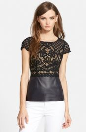Bailey 44 Daffodil Cap Sleeve Lace Top at Nordstrom