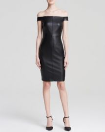 Bailey 44 Dress - Botswana Off the Shoulder Faux Leather at Bloomingdales