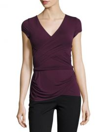 Bailey 44 Entrechat V-Neck Crossover Top  Purple at Neiman Marcus