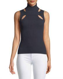 Bailey 44 Exeter Sleeveless Cutout Turtleneck Sweater at Neiman Marcus