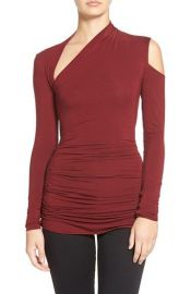 Bailey 44 Expressionist Cutout Long Sleeve Top in Red at Nordstrom