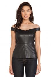 Bailey 44 Fixation Off-The-Shoulder Illusion Top black at Neiman Marcus