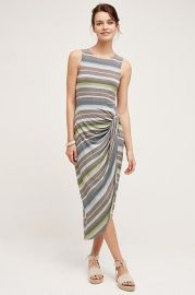 Bailey 44 Gathered Stripes Midi Dress at Anthropologie