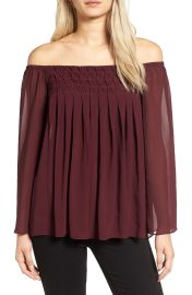 Bailey 44 Helena Off the Shoulder Blouse berry at Nordstrom