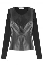 Bailey 44 Jersey and Faux Leather top at Stylebop