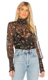 Bailey 44 Misha Floral Printed Blouse in Black Multi from Revolve com at Revolve