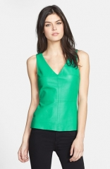 Bailey 44 Planetoid Perforated Leather Front Tank at Nordstrom