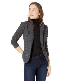 Bailey 44 Women s Black Op Brushed Herringbone Ponte Blazer at Amazon