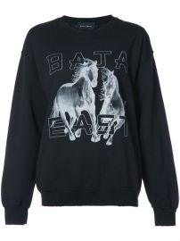 Baja East Logo Print Sweatshirt at Farfetch