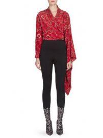 Balenciaga - Chains Silk Crepe Wrap Mono Top at Saks Fifth Avenue