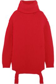 Balenciaga   Oversized ribbed wool turtleneck sweater at Net A Porter