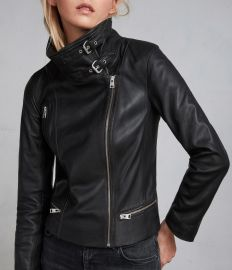 Bales Leather Biker Jacket at All Saints