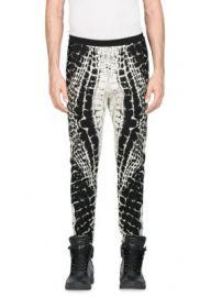 Balmain - Calecon Motif Croco Devore Skinny Pants at Saks Fifth Avenue