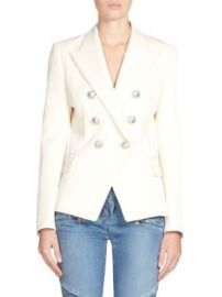 Balmain - Wool Double-Breasted Blazer at Saks Fifth Avenue