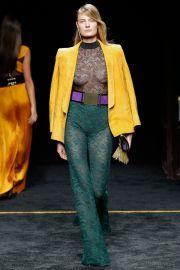 Balmain 2015 Lace Jumpsuit and Yellow Jacket at Vogue