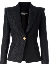 Balmain Jacquard Blazer - at Farfetch