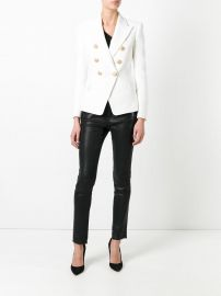 Balmain double breasted blazer at Farfetch