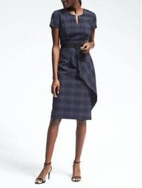 Banana Republic Blue Plaid Seersucker Dress at Banana Republic