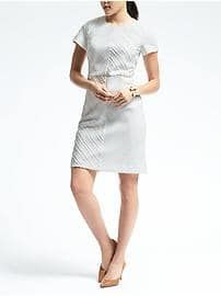 Banana Republic Clip Jacquard Sheath Dress at Banana Republic