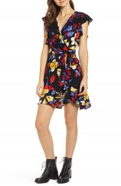 Band of Gypsies Buenos Aires Wrap Minidress at Nordstrom