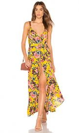 Band of Gypsies Chrysanthemum Wrap Dress in Mustard  amp  Pink from Revolve com at Revolve
