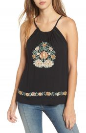 Band of Gypsies Floral Embroidered Tank at Nordstrom