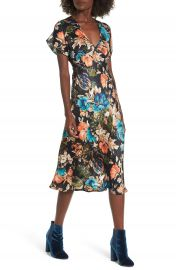 Band of Gypsies Peony Floral Midi Dress at Nordstrom
