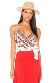 Band of Gypsies Rose Tie Crop Top in Ivory  amp  Red from Revolve com at Revolve