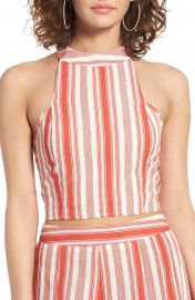 Band of Gypsies Stripe Crop Top at Nordstrom