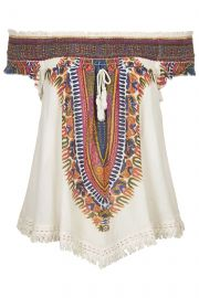 Band of Gypsies Tassel Front Woven Top in orange at Nordstrom