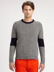Band of Outsiders - Blocked Crewneck Sweater at Saks Fifth Avenue