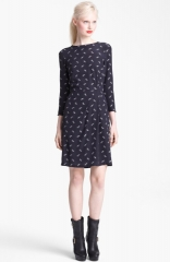 Band of Outsiders Arrow Print Silk Dress at Nordstrom