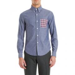 Band of Outsiders Contrast Pocket Shirt at Barneys