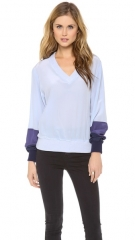 Band of Outsiders Tonal Silk Sweatshirt at Shopbop