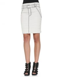 Band of Outsiders Tromp LOeil Printed Side-Zip Miniskirt at Last Call