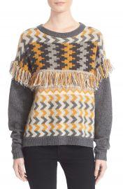 Banjo and Matilda Marrakech Fringe Trim Jacquard Knit Sweater at Nordstrom
