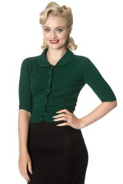 Banned Women s April Short Sleeve Cardigan at Amazon