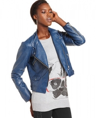 Bar III Jacket Long-Sleeve Faux-Leather Motorcycle - Jackets and Blazers - Women - Macys at Macys