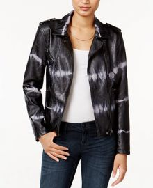 Bar III Tie-Dyed Faux-Leather Moto Jacket  Only at Macy s at Macys