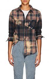 Bara Distressed Plaid Cotton Flannel Shirt by NSF at Barneys
